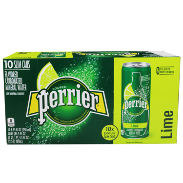 PERRIER LIME CAN 10PK