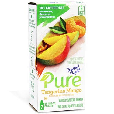 CRYSTAL LIGHT PURE TANGERINE MANGO