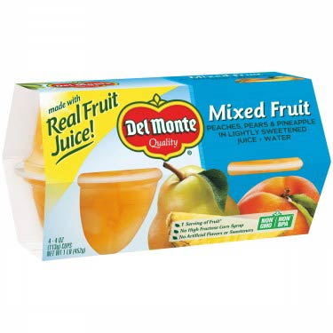 DEL MONTE MIXED FRUIT CUPS 4PK