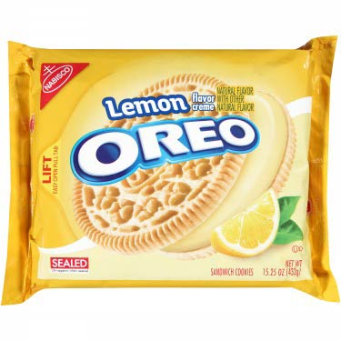 NABISCO OREO LEMON