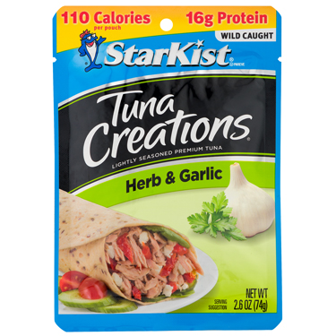 STARKIST TUNA CREATIONS HERB GARLIC