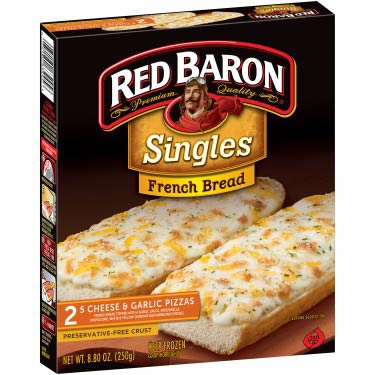 RED BARON FRENCH BREAD 5 CHEESE PIZZA