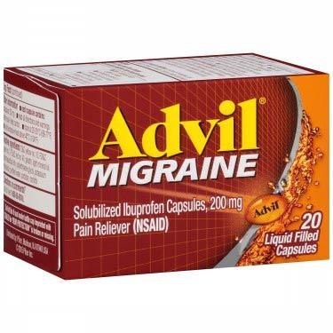 Supermax Advil Migraine Capsules 20 Ct